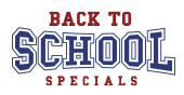 Back to School savings Free shipping on all items