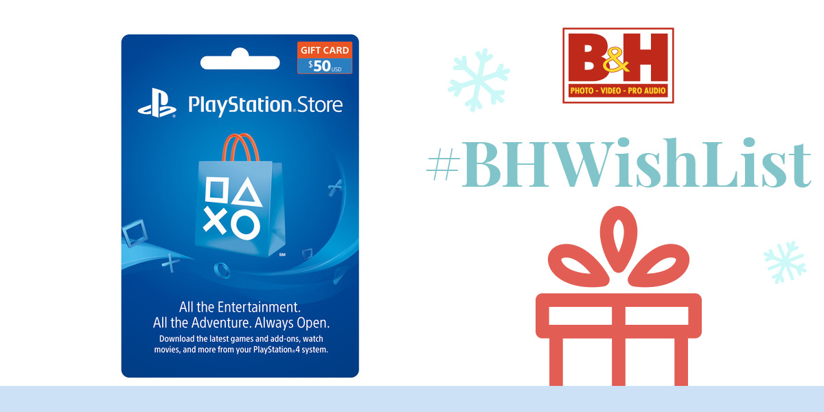 Sony PlayStation Store $50 Gift Card 3002072 B&H Photo Video