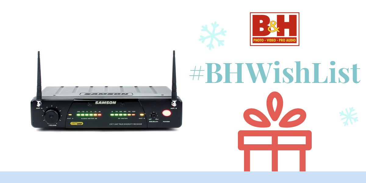 Samson Cr77 Wireless Microphone Receiver Sw77r00n3 B U0026h Photo