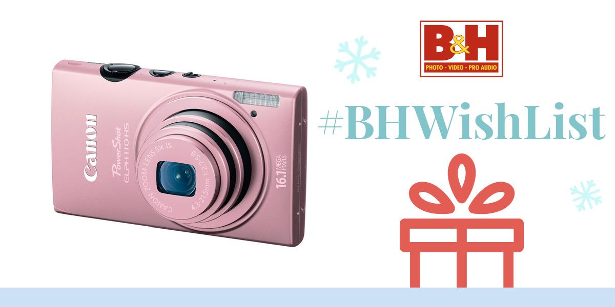 canon powershot elph 110 hs digital camera pink 6048b001 b h. Black Bedroom Furniture Sets. Home Design Ideas