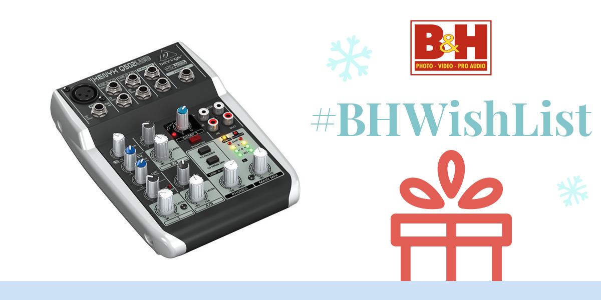 behringer xenyx q502usb premium 5 input 2 bus mixer q502usb b h. Black Bedroom Furniture Sets. Home Design Ideas