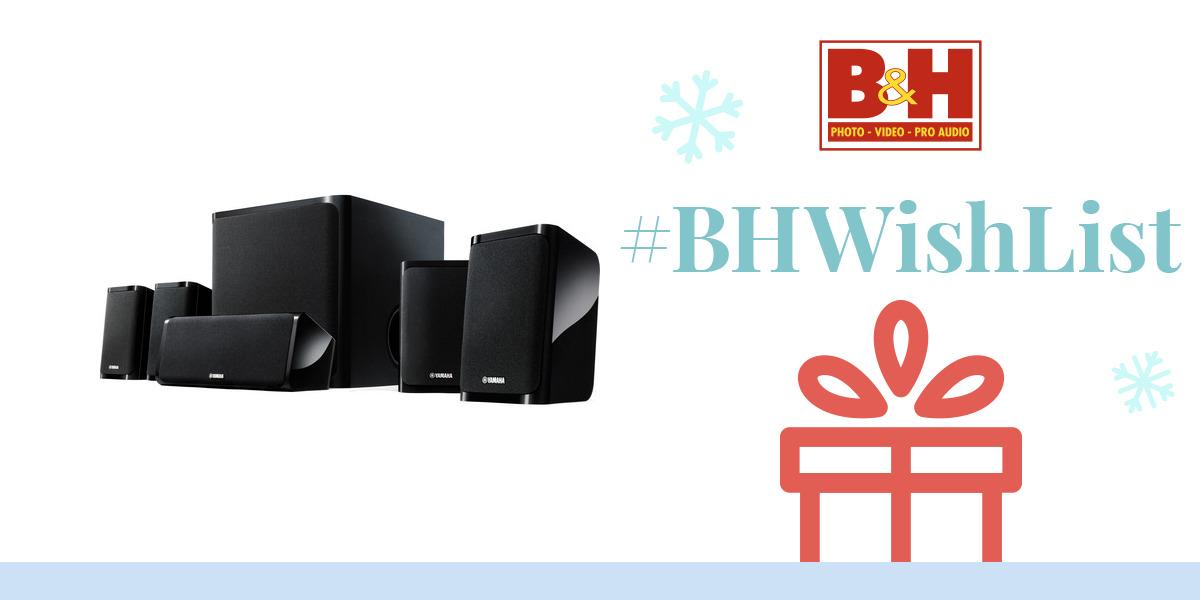 yamaha ns p40 5 1 channel speaker system ns p40bl b h photo. Black Bedroom Furniture Sets. Home Design Ideas