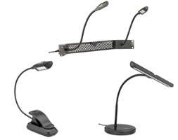 Auray Gooseneck Lights for Audio Engineers, Musicians, and DJs