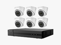 EKI-Q82T26 8-Channel 4MP NVR with 2TB HDD & 6 2MP Night Vision Turret Cameras Kit