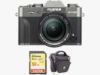 FUJIFILM X-T30 Mirrorless Digital Camera (Charcoal Silver) - Now Shipping