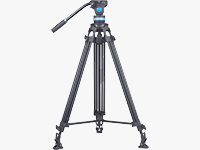 Aluminum Video Tripod with Fluid Head