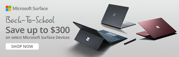 Microsoft Surface Back to School Banner