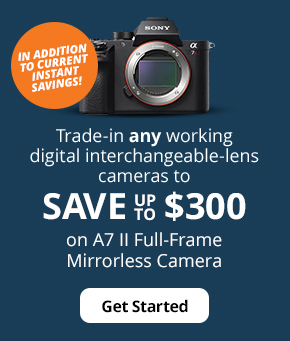 Save up to $300 on A7 II Full-Frame Mirrorless Camera