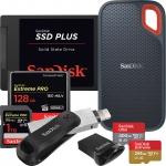 Memory Cards, Flash Drives& Hard Drives