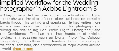 Simplified Workflow for Wedding Photographer