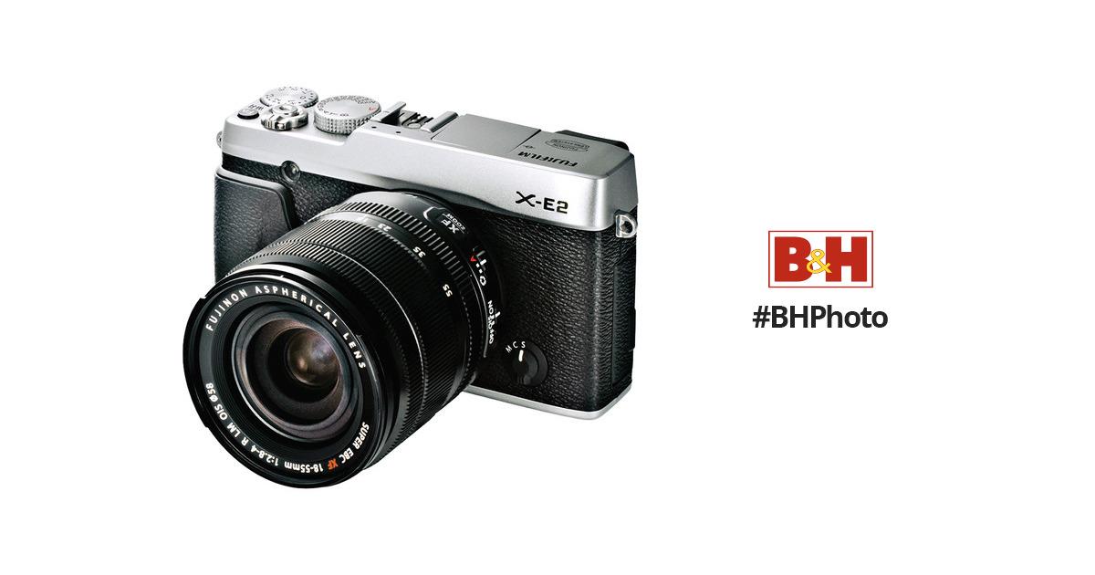 FUJIFILMX-E2 Mirrorless Digital Camera with 18-55mm Lens (Silver)