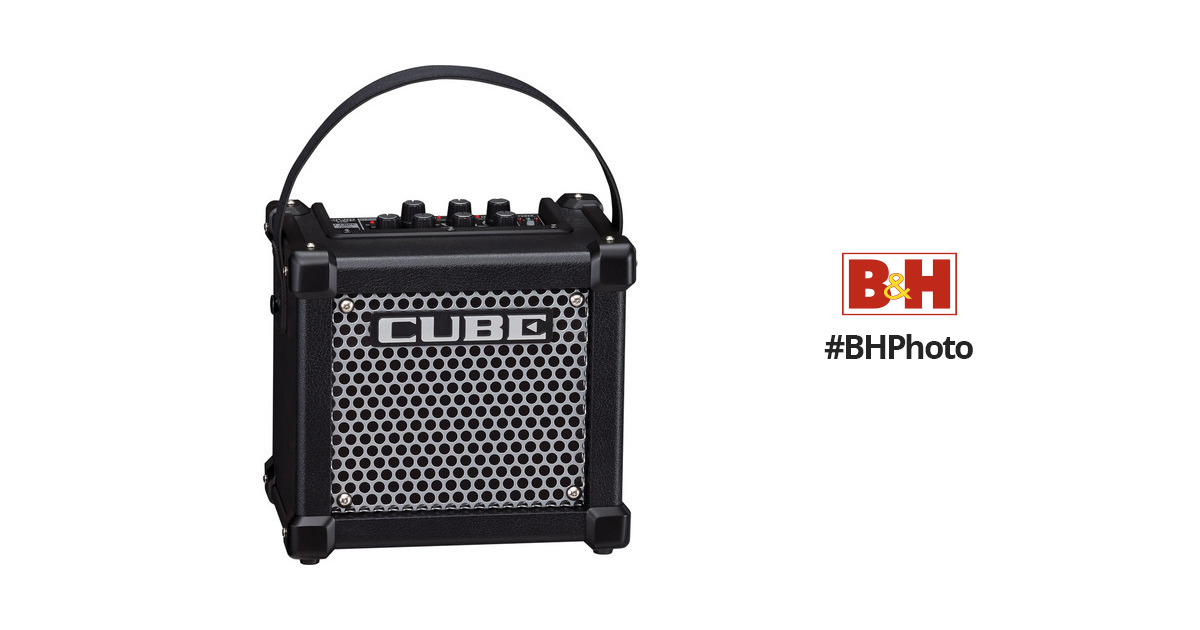 roland micro cube gx guitar amplifier black m cube gx b h. Black Bedroom Furniture Sets. Home Design Ideas