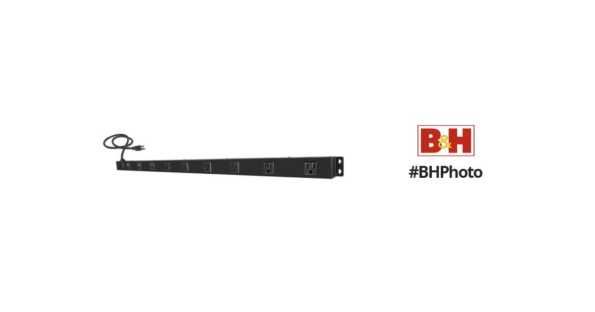 Qvs 9 outlet surge protector wallmount powerbar pb9 03 b h for Outlet b b