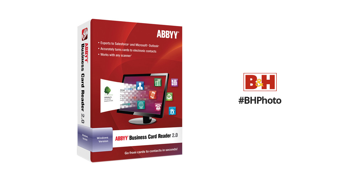 ABBYY Business Card Reader 2.0 for Windows FRLBCRDFW2XE B&H