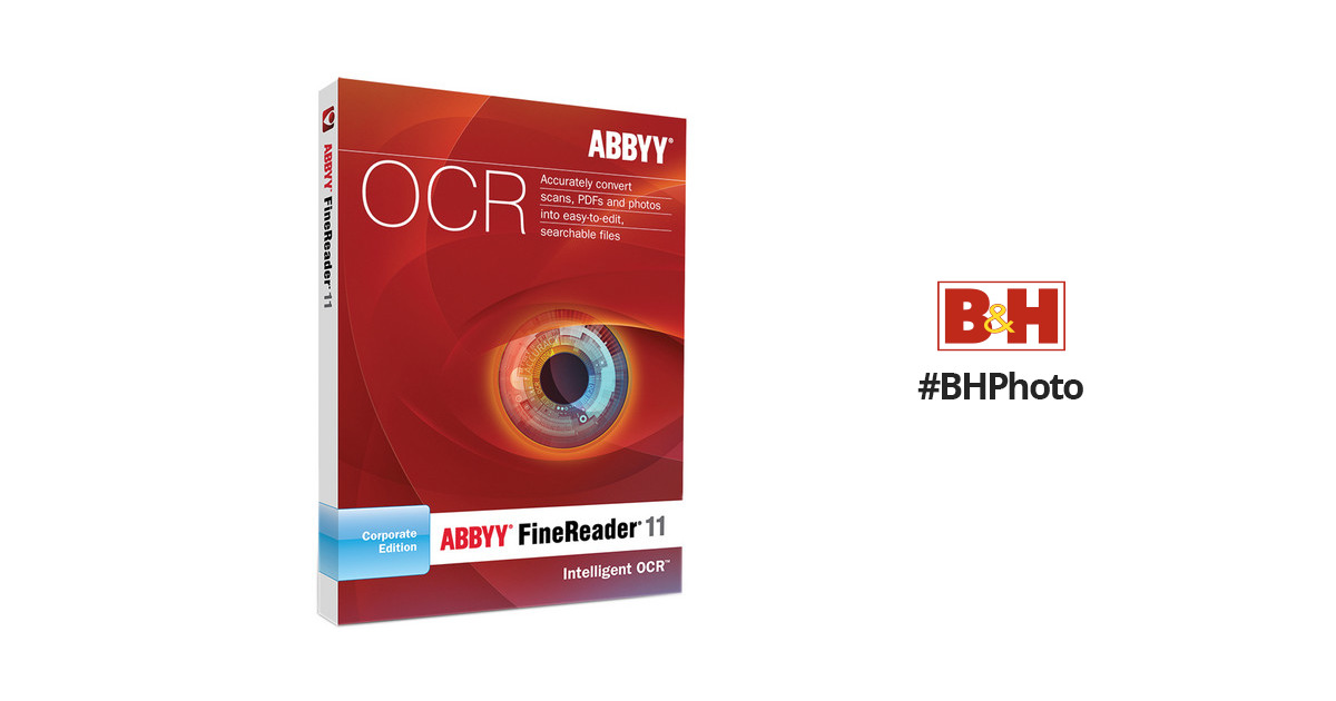 Abbyy finereader 11 corporate edition frcefw11e bh photo video reheart Image collections