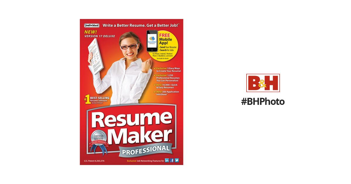 individual software resumemaker professional deluxe 17