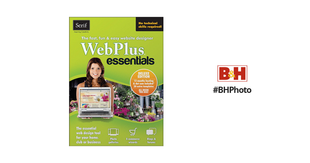 Serif WebPlus Essentials Deluxe Software (Download) WPEDUSESD