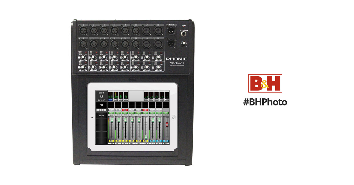 Phonic Acapela 16-Input 4-Bus Digital Live Sound Digital Mixer