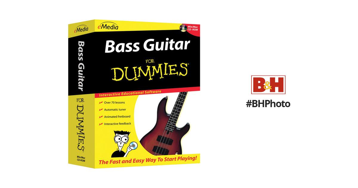emedia music bass guitar for dummies beginner bass 1097 41 b h. Black Bedroom Furniture Sets. Home Design Ideas