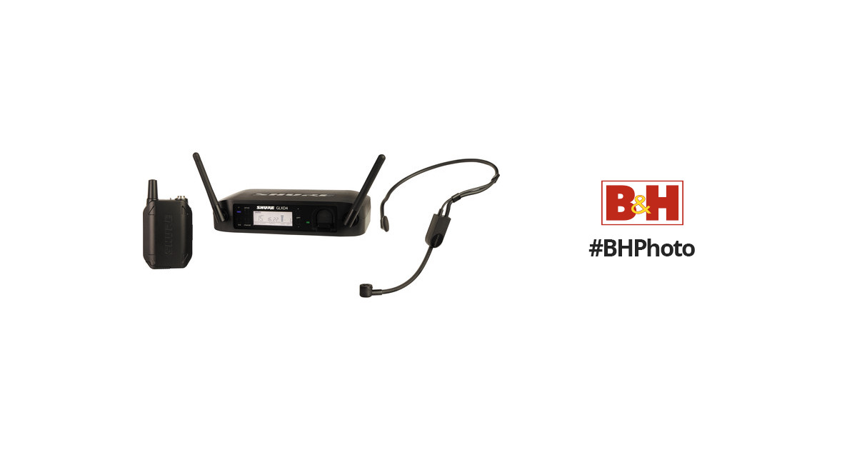 shure glxd14 pga31 headset wireless system glxd14 pga31 z2 b h. Black Bedroom Furniture Sets. Home Design Ideas