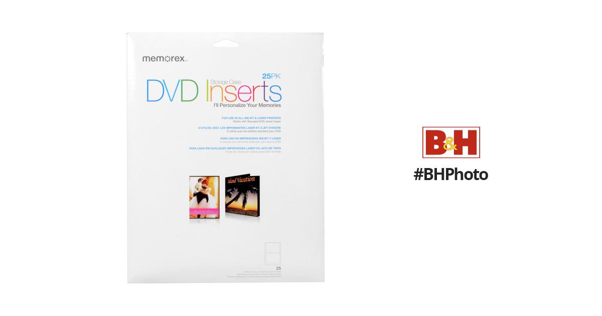 sc 1 st  Bu0026H & Memorex DVD Storage Case Inserts (25) 00713 Bu0026H Photo Video