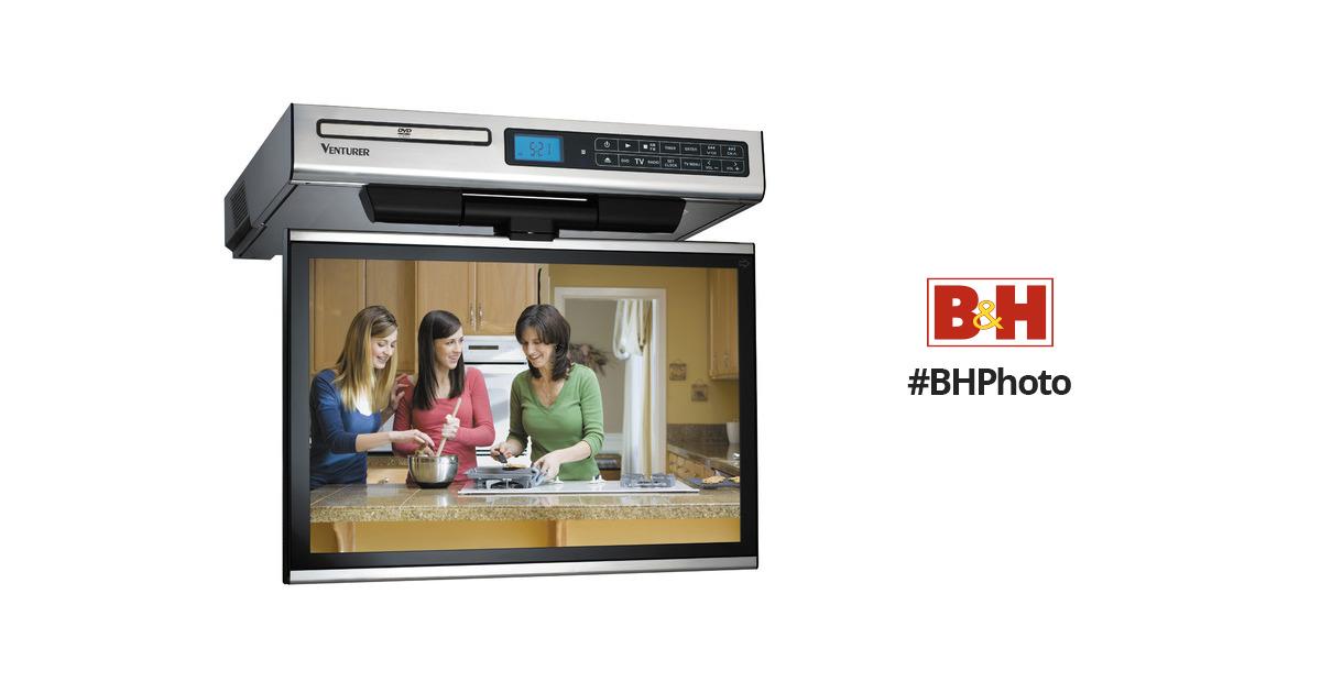 venturer klv3915 15 4 kitchen lcd tv dvd combo klv3915 b h rh bhphotovideo com Venturer Under Cabinet TV Contact Venturer Electronics