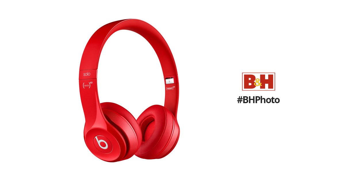 308649a60329 Beats by Dr. Dre Solo2 Wired On-Ear Headphones (Red) MH8Y2AM/A