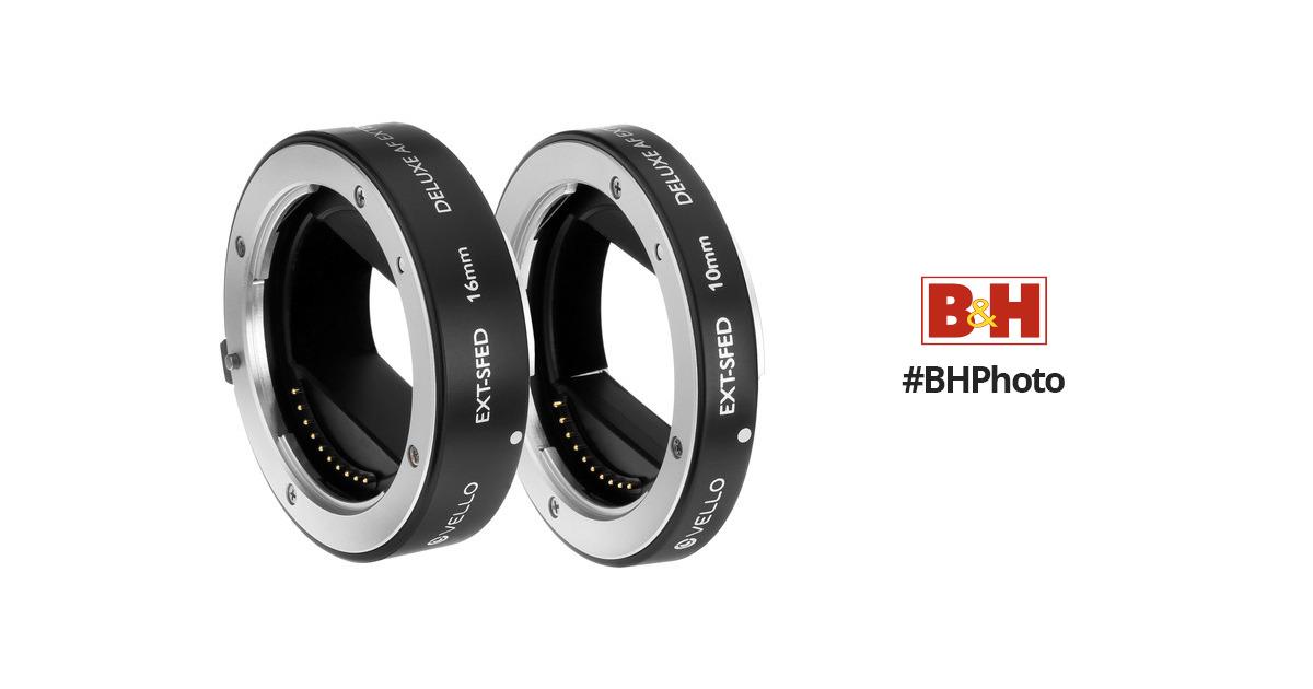 Vello EXT-SFED Deluxe Auto Focus Extension Tube Set for Sony E-Mount Lenses