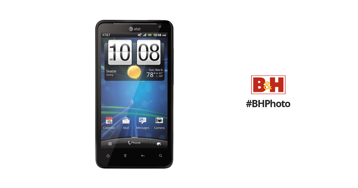 htc vivid x710a 16gb at t branded smartphone x710a black b h rh bhphotovideo com AT&T HTC Battery AT&T HTC Phones