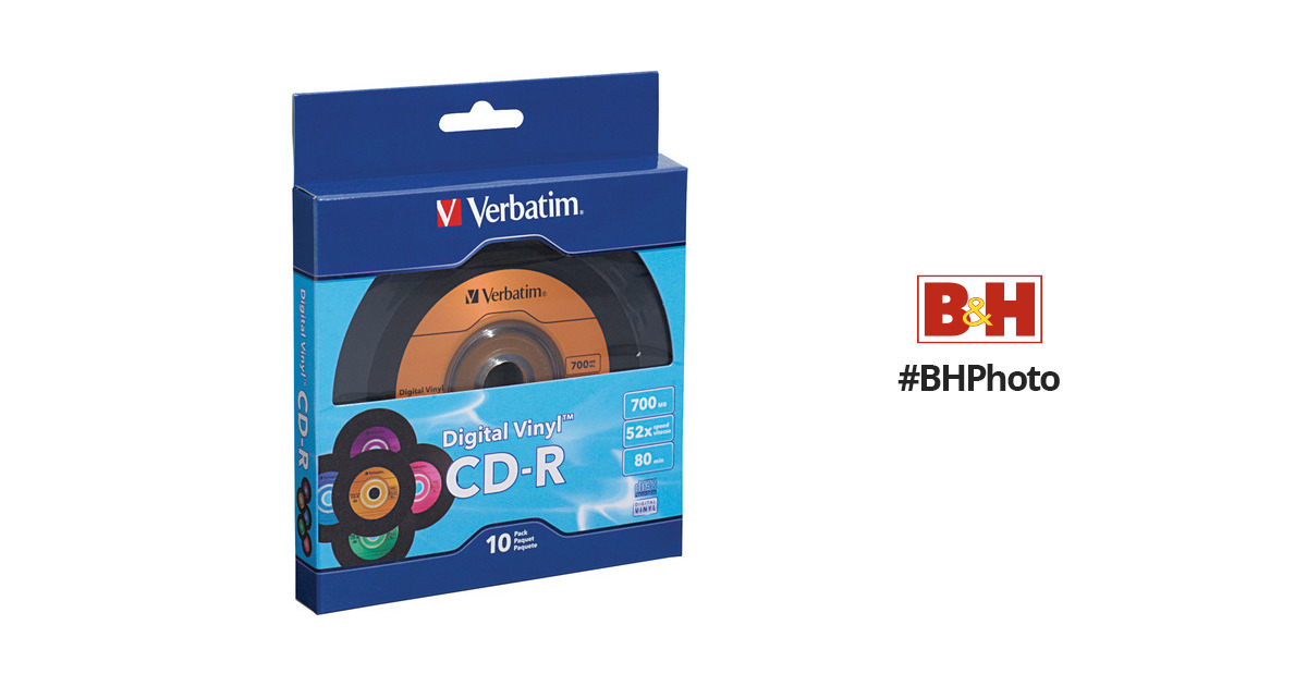 Verbatim 97935 Digital Vinyl CD-R 700MB 80-Minute Pack of 10