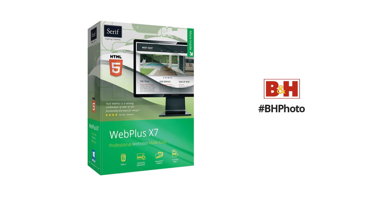 Serif WebPlus X7 (Download) WPX7USESD B&H Photo Video