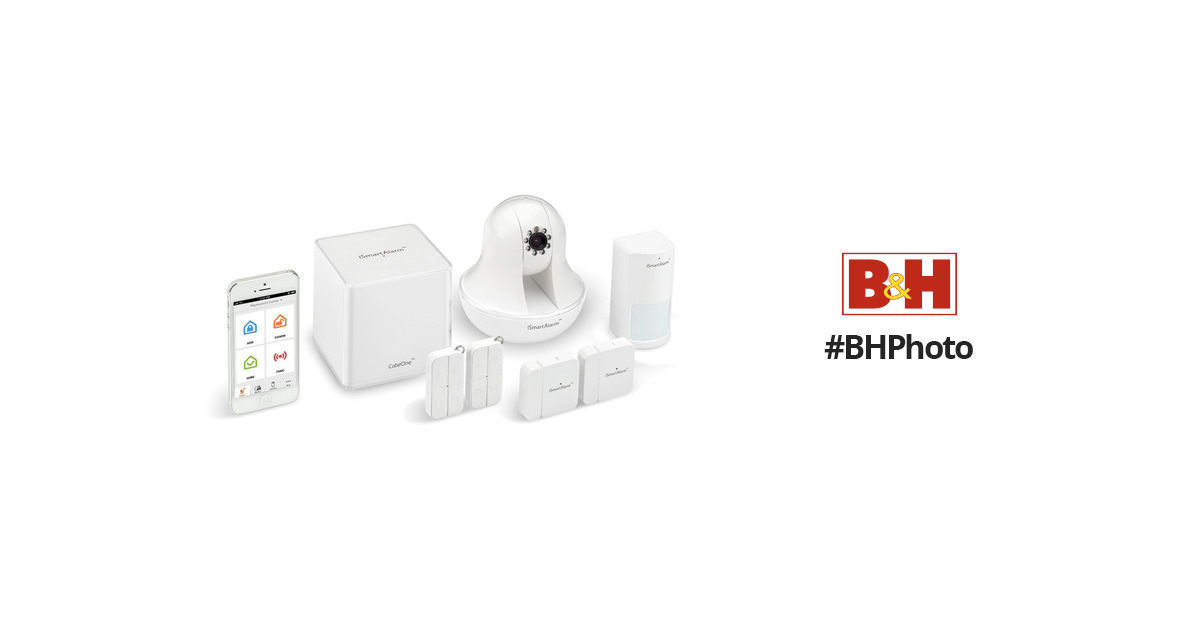 ismartalarm premium package home security system usa only isa6. Black Bedroom Furniture Sets. Home Design Ideas