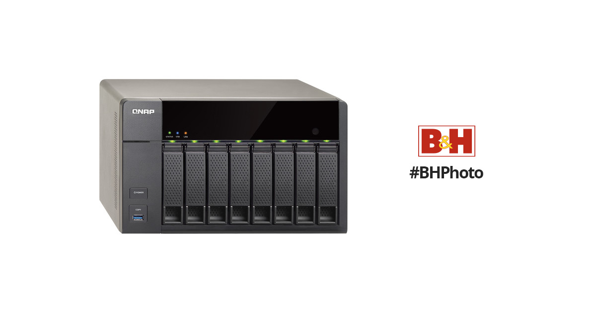 QNAP TS-851 8-Bay Home and SOHO NAS Server TS-851-US B&H Photo