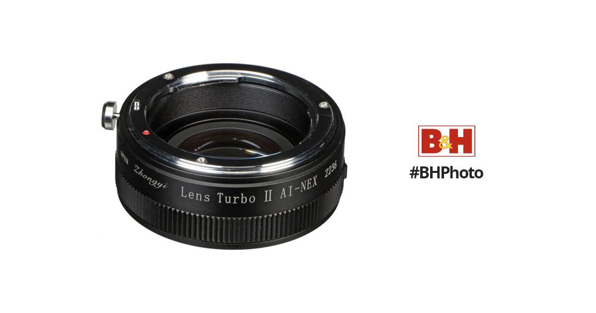 Zhongyi Mitakon Turbo II Focal Reducer Booster Adapter Nikon F AI Lens to Sony E NEX Camera