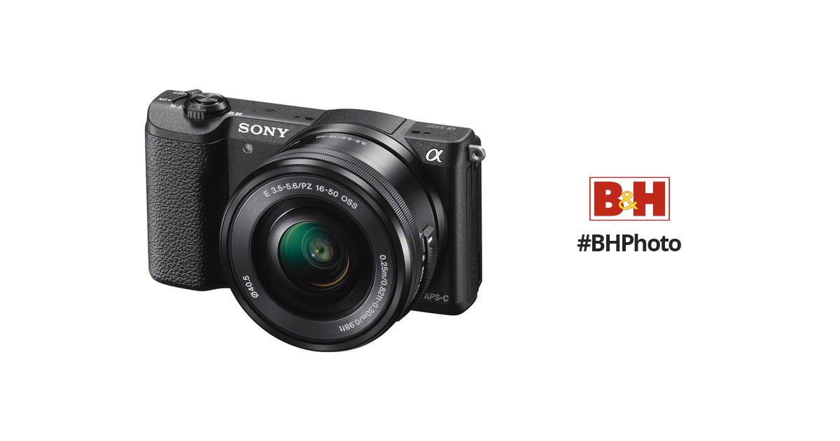 Sony Alpha a5100 Mirrorless Digital Camera ILCE5100L/B B&H Photo