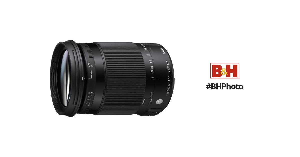 Sigma 18-300mm f/3.5-6.3 DC MACRO OS HSM Contemporary 886101 B&H