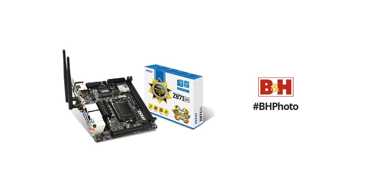 MSI Z87I AC Intel Rapid Start Technology Drivers for Windows
