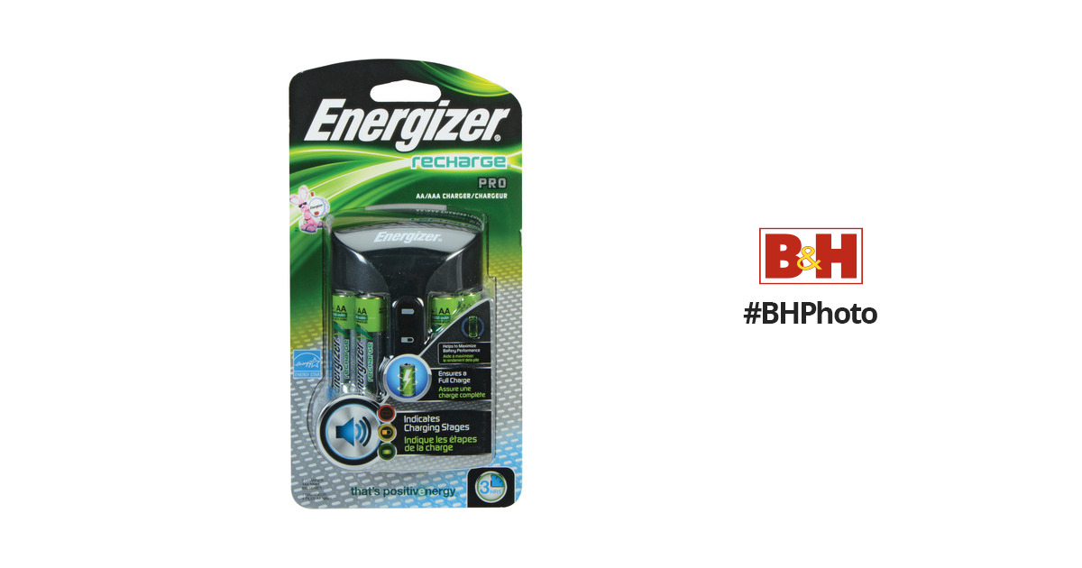 Energizer Recharge Pro Charger For Aa And Aaa Nimh Chprowb4 Bh