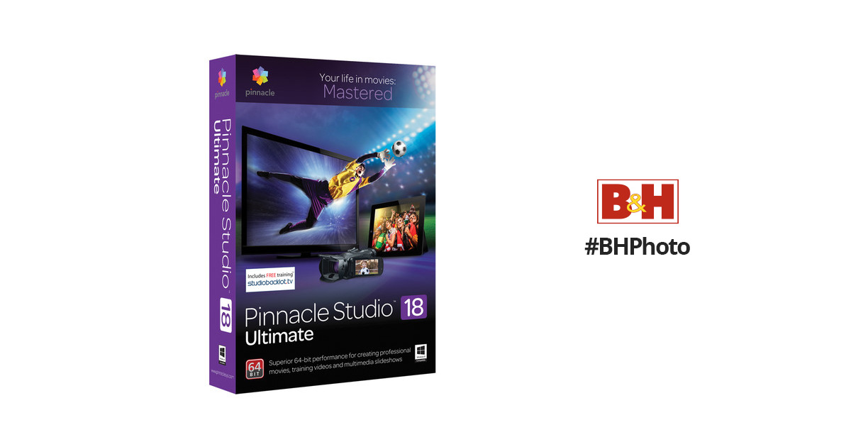 Pinnacle Studio 18 Ultimate Video Editing ESDPNST18ULMLR B&H