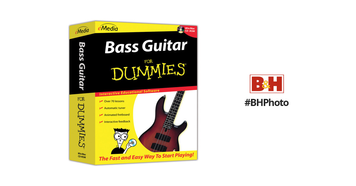 emedia music bass guitar for dummies beginner bass fd07101dlw. Black Bedroom Furniture Sets. Home Design Ideas