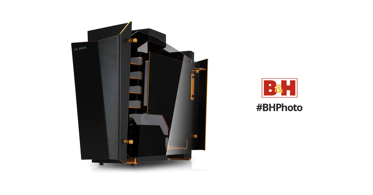 In Win S-Frame Open-Air Chassis Mid-Tower SFRAMEBLACKGOLD B&H