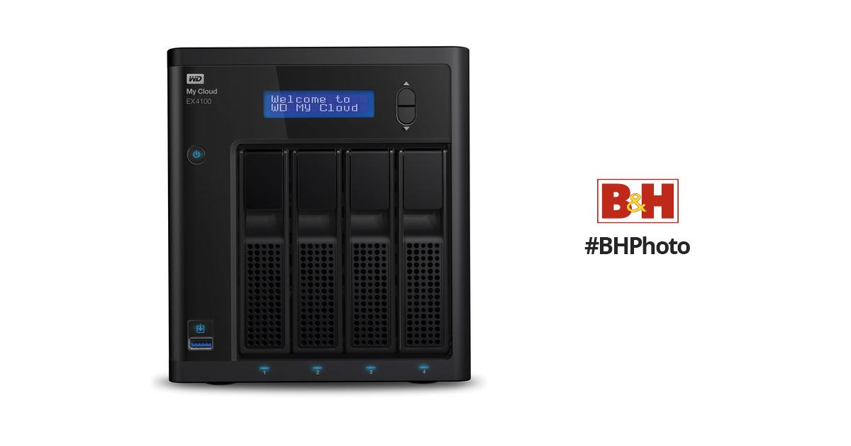 WD My Cloud Expert Series EX4100 4-Bay WDBWZE0000NBK-NESN B H a4016247204a
