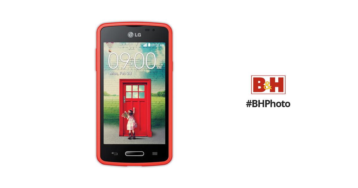 LG L50 Sporty Dual D221C 4GB Smartphone (Unlocked, Red/Black)