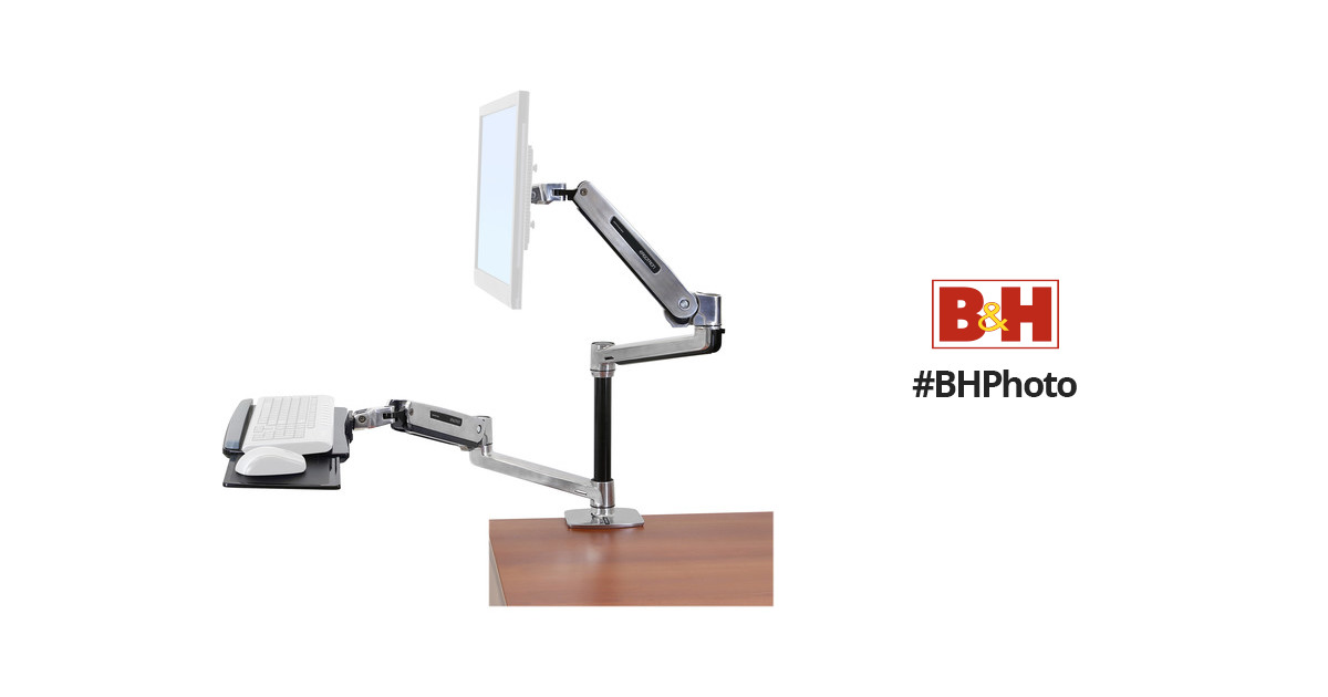 Ergotron Workfit Lx Sit Stand Desk Mount System 45 405 026 B Amp H