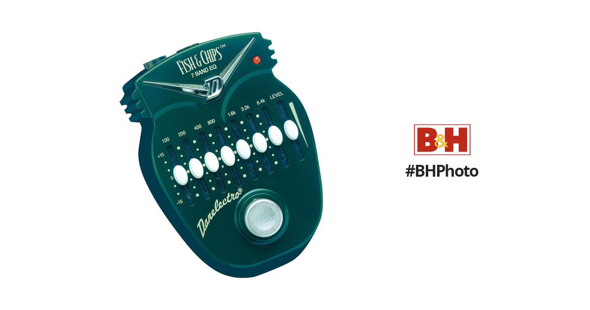danelectro fish chips 7 band graphic eq pedal dj 14 b h. Black Bedroom Furniture Sets. Home Design Ideas
