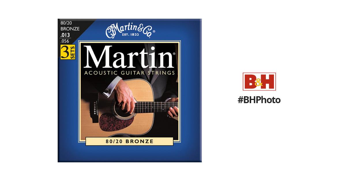 3 SETS Pack MARTIN 13-56 ACOUSTIC GUITAR STRINGS MEDIUM m150pk3
