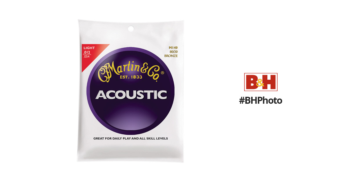Light Martin M140 80//20 Bronze Round Wound Acoustic Strings
