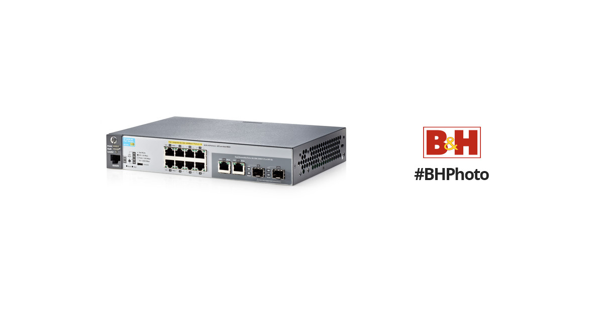 HP 2530-8G-PoE+ 8-Port Layer 2 Ethernet Switch with Two SFP Slots