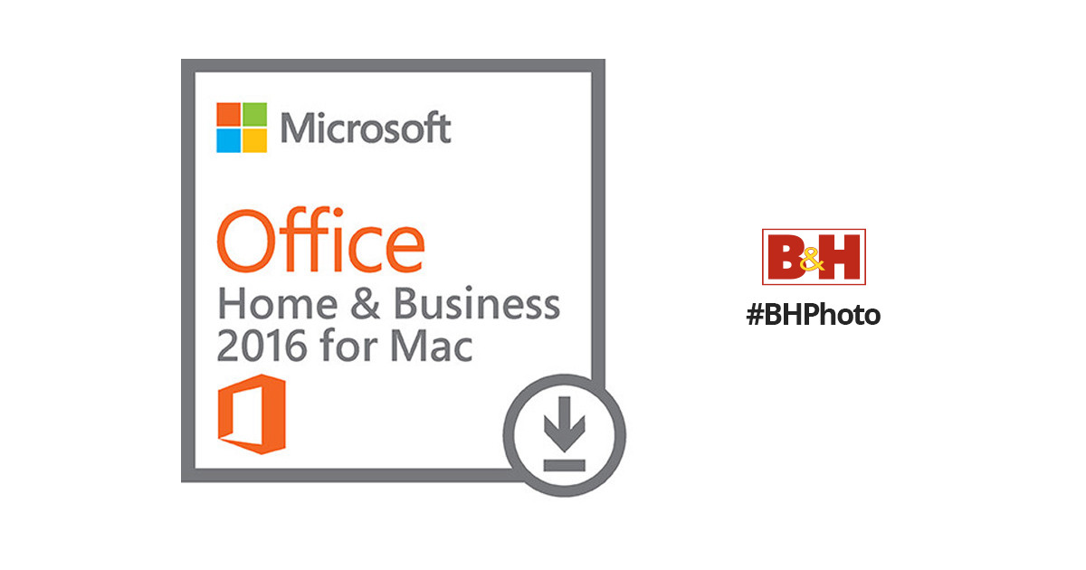 Microsoft Office Home & Business 2016 for Mac W6F-00465 B&H