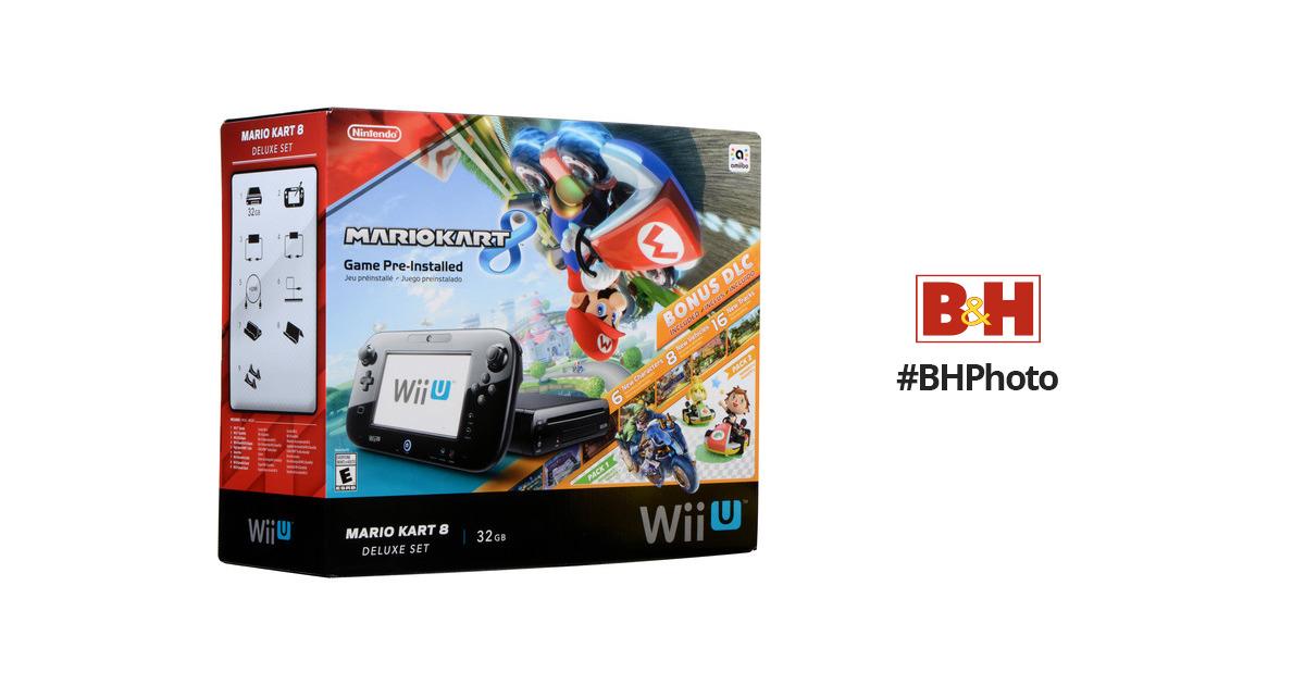 Nintendo Wii U Mario Kart 8 Deluxe Bundle Black Wupskagp B H